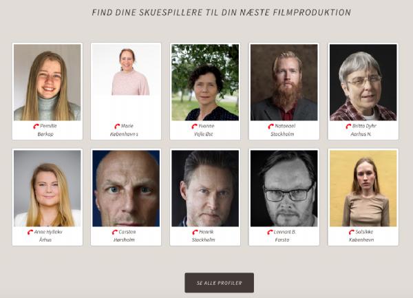 Skuespillere mandlige danske Liste over